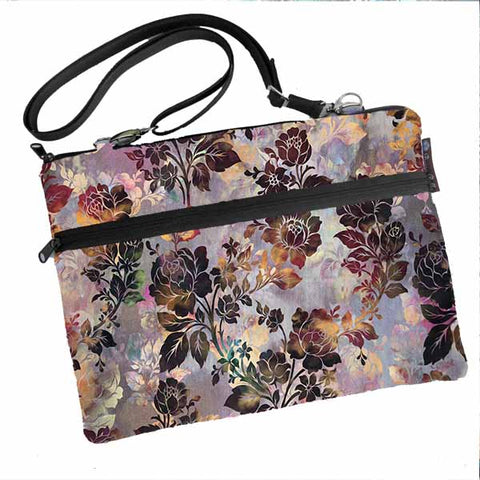 Laptop Bags - Shoulder or Cross Body - Adjustable Nylon Straps - New Colorful Brown Fabric