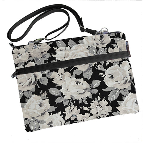 Laptop Bags - Shoulder or Cross Body - Adjustable Nylon Straps - Sugar Rose Fabric