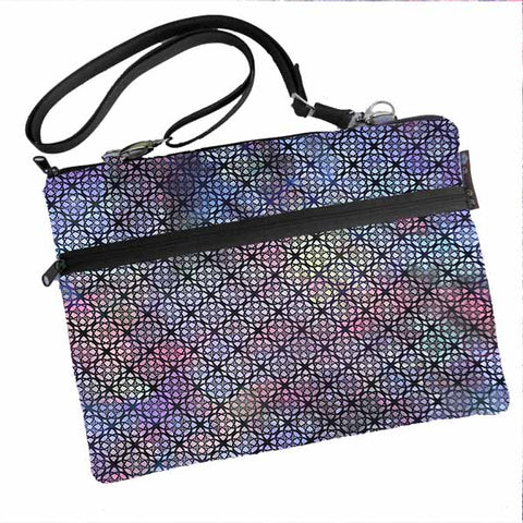Laptop Bags - Shoulder or Cross Body - Adjustable Nylon Straps - New Purple Gray Fabric