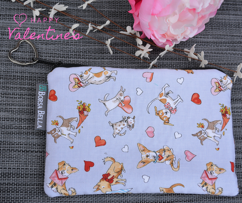 Catch All Zippered Pouch - Limited Puppy Love Fabric
