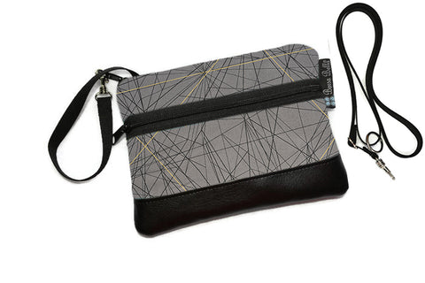 Deluxe Long Zip Phone Bag - Converts to Cross Body Purse - Tight Rope Fabric