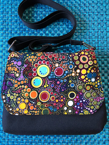 Itsy Bitsy Messenger Purse - Happy Fabric