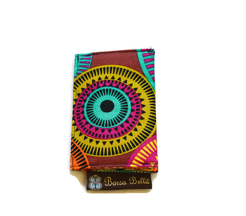 Card Holder RFID Protected - Bohemian Jewels Fabric