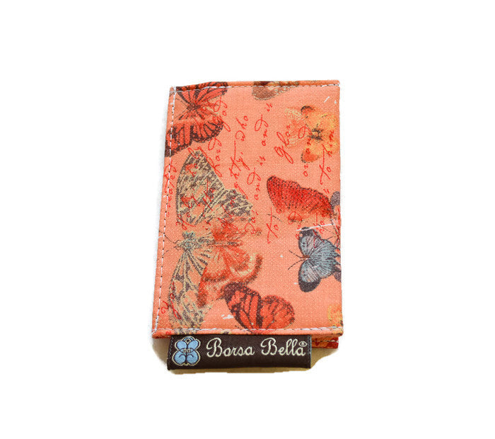 Card Holder RFID Protected -  Butterfly Kisses Fabric