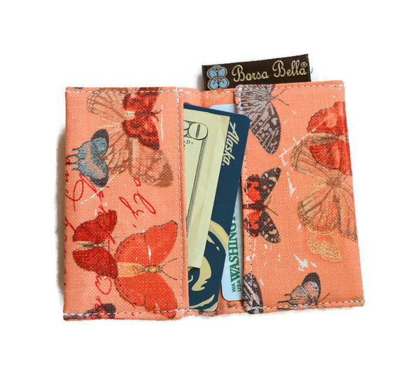 Card Holder RFID Protected -  Midnight Rain Fabric