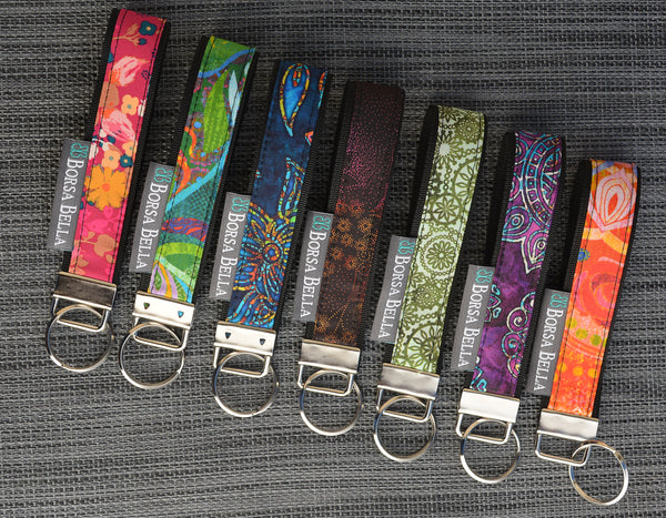 Keychain Wristlets -   Blissful Garden Fabric