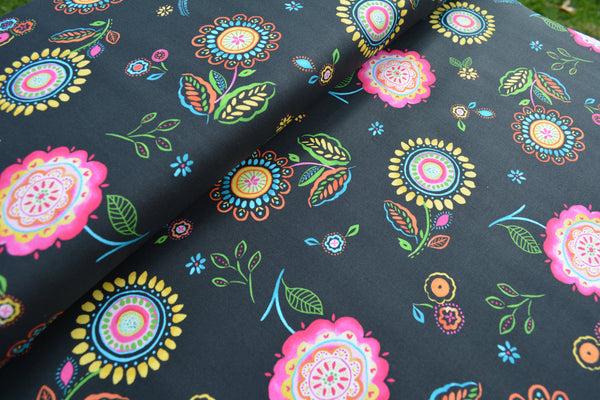 Catch All Zippered Pouch - Night Shades Fabric