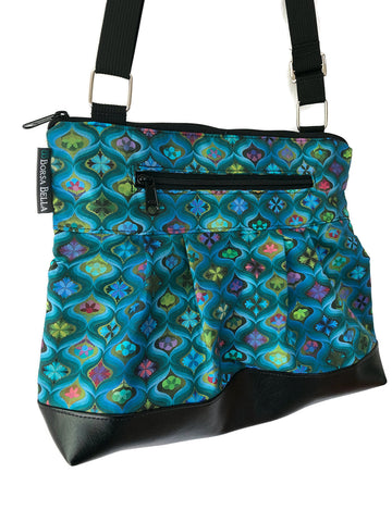 Hobo Purse Cross Body - Shoulder Bag - Stained Glass Fabric