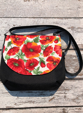 Itsy Bitsy/Bigger Bitsy Messenger Purse - Poppie Fabric