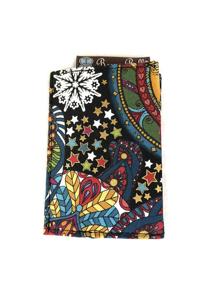 Card Holder RFID Protected - Celestial Winter Fabric