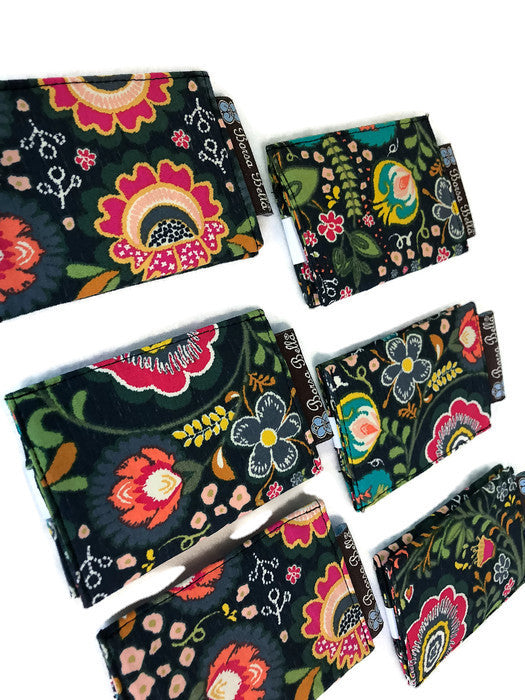 Card Holder RFID Protected - Gypsy Garden Fabric