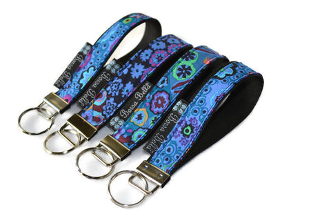 Keychain Wristlets -   Murano Glass Fabric