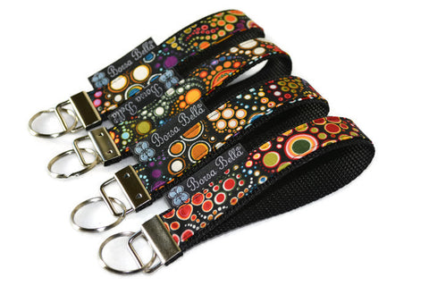 Keychain Wristlets -   Happy Fabric