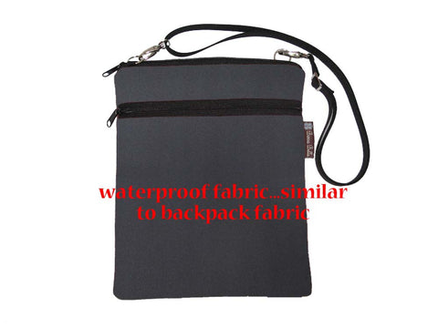 Travel Bags - Cross Body - Black Cordura Fabric