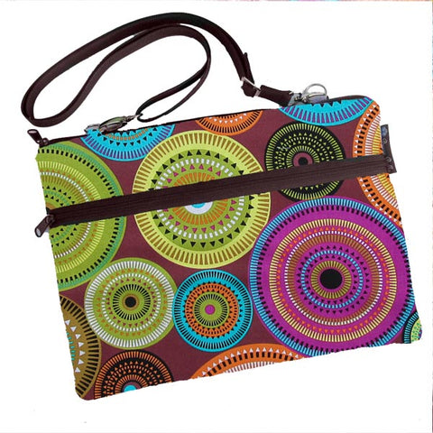 Laptop Bags - Shoulder or Cross Body - Adjustable Nylon Straps - Bohemian Jewels Fabric