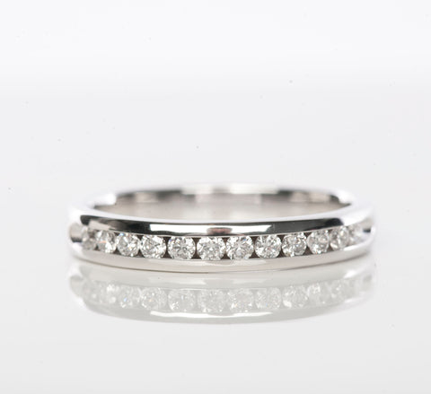14K White Gold 1/4CT Diamond Channel Set Band