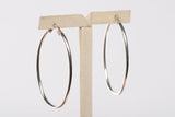Trendy Sterling Silver Oval Hoop Earrings