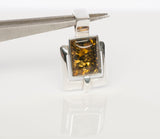 Sterling Silver and Synthetic Amber Fashion Pendant