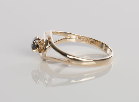 14k Yellow Gold Love Ring size 4