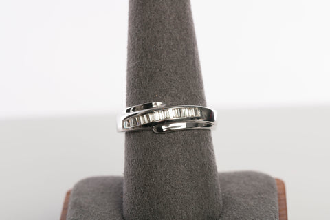 18k White Gold and Diamond Band / Ring -$399FIRM