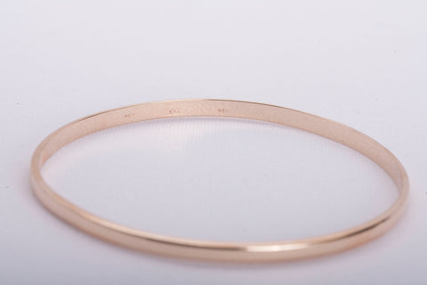 18k Yellow Gold Bracelet 3.5mm Wide Size 8 1/4