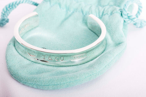 Tiffany bangle bracelet in silver