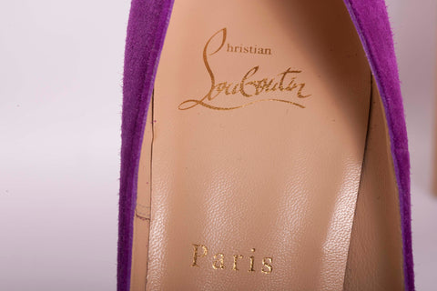 Auth. Christian Louboutin So Kate 120 Veau Velours Heels 37.5 LKNW