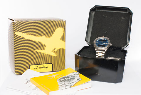 Authentic BREITLING AEROSPACE F65062 Titanium and 18k Gold Plated Watch
