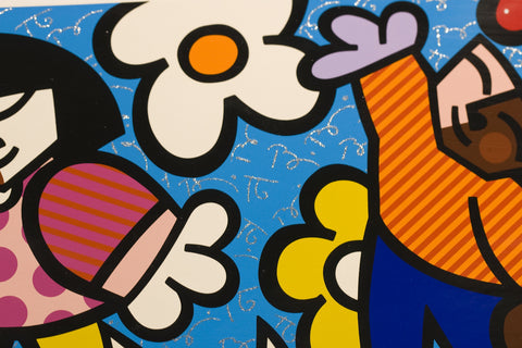 "Romero Britto Hand Embellished Artist Proof ""Seasons of Miracles-Suite of 4"""