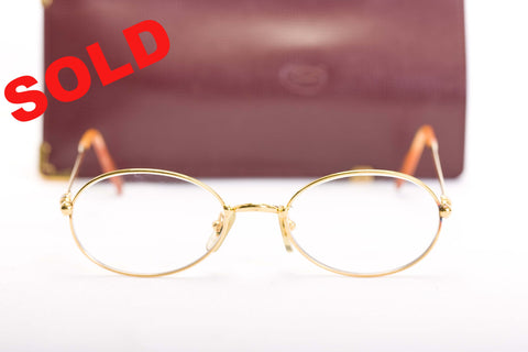 Cartier Gold Glasses