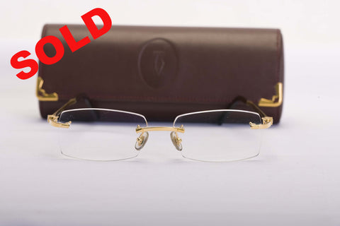 Cartier Diamond Eyeglasses 130