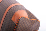 Céline Boston Macadam Hand Pvc Leather Brown Coated Canvas Tote