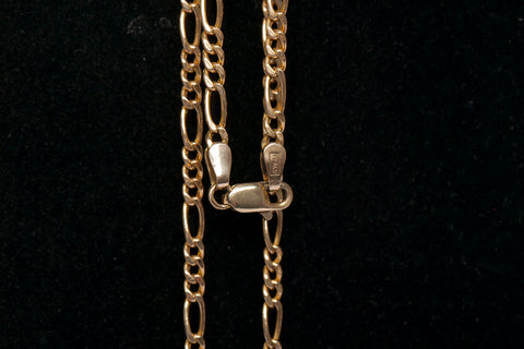 "14K Yellow Gold 19.5"" 3mm Figaro Chain (Unisex)"