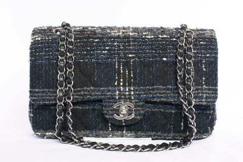 Authentic Chanel Tweed Double Flap Bag(Made in France)