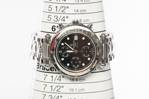 Authentic Automatic PHILIPPE CHARRIOL Chonograph Supersports No. 3494 Stainless Steel Watch
