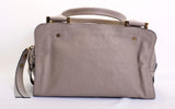Chloé Dalston Triple-zip Leather Gray Satchel