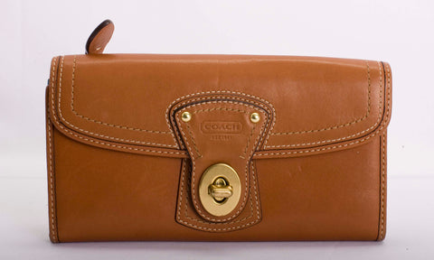 Coach Legacy Whiskey Leather Shoulder Bag with Wallet