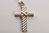 14K Yellow Gold Textured Cross Pendant