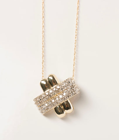 "Ladies ""X"" Diamonds .52 TCW 14KY Gold Pendant"