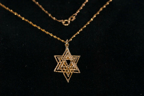Precious 14K Star of David Necklace