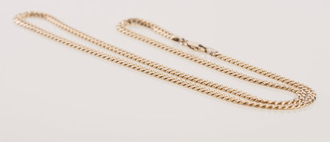 "14k Gold Solid Gold 3.3mm Men Women Cuban Link Chain 20"" 16.8 grams"
