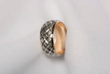 Ladies 14K Two-Tone Gold Eternity Textured Band