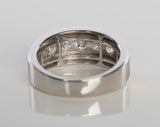 Stunning Men's 10k White Gold Diamond Band