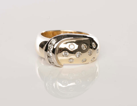 Gorgeous 14K Two-Tone Diamond Ring
