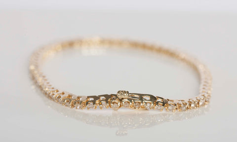 1.16CTW 14K Diamond Tennis Bracelet 7.00""