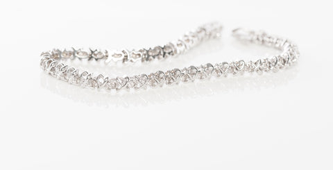 Gorgeous 14K White Gold 3/4CT Diamond Tennis Bracelet