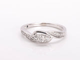 Sweet Diamond 10k White Gold Ring