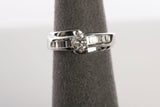 Ladies 18K White Gold Diamond Engagement Ring