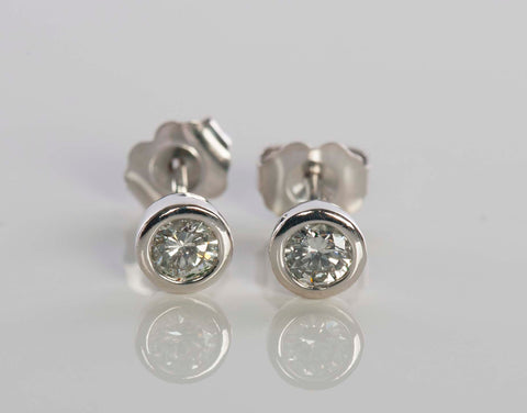 14k White Gold .40 Diamond Stud Earrings