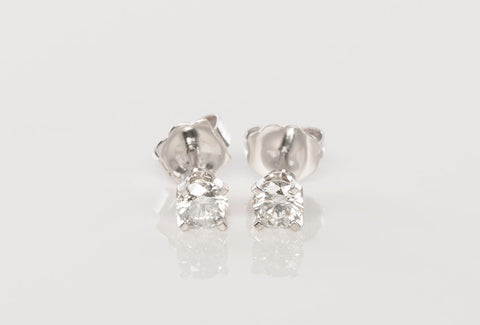 .50TCW Diamond Studs 14k White Gold